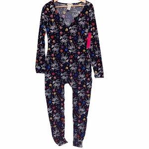 Shosho Black Halloween fleece lined pajamas Large